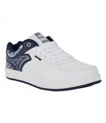 Vostro White Navy Grey Casual Shoes for Men - VSS0158